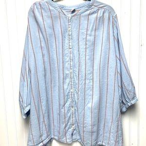 Blue Multi Stripped Long Sleeved Shirt